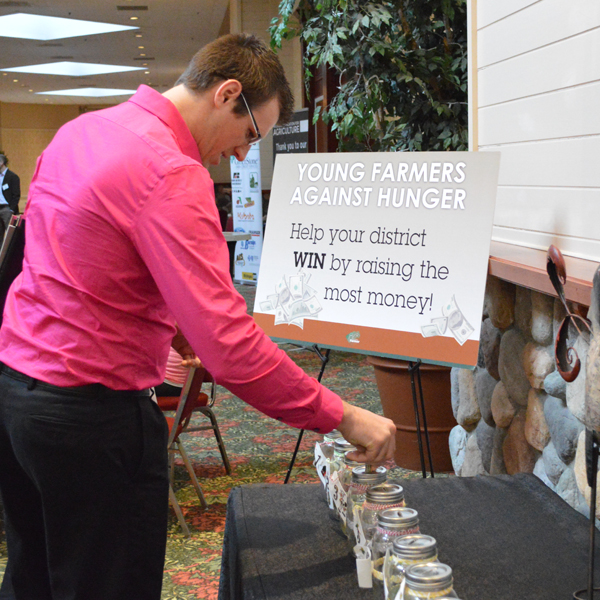 Kent County's Nick Schweitzer donated to help his district raise funds to feed the hungry.
