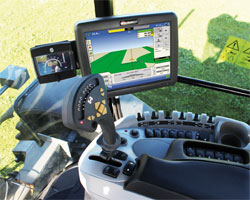 Technology in tractor cab